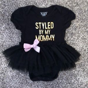 "Never worn tutu ""Styled By My Mommy"" outfit"